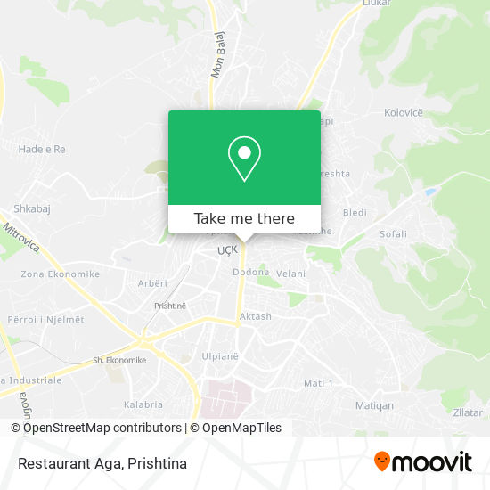 Restaurant Aga map