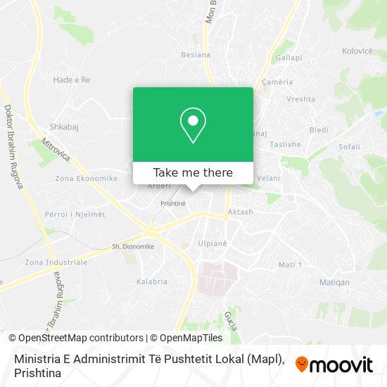 Ministria E Administrimit Të Pushtetit Lokal map