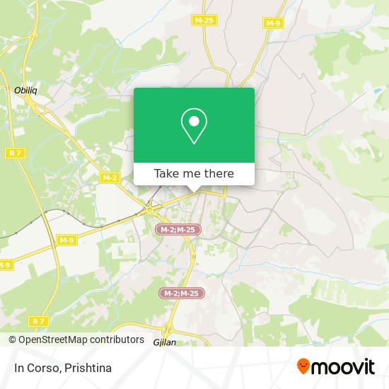 In Corso map
