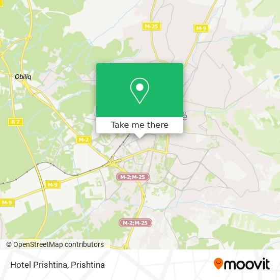 Hotel Prishtina map