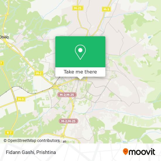 Fidann Gashi map