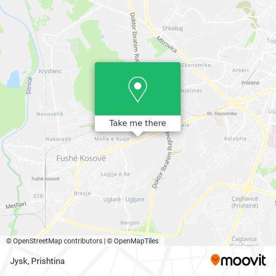 Jysk map