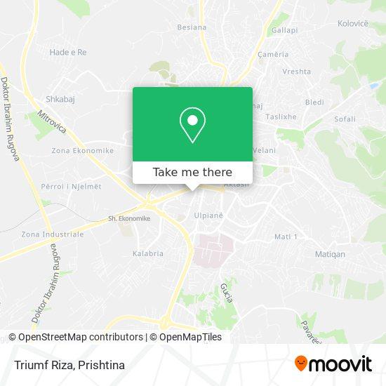 Triumf Riza map