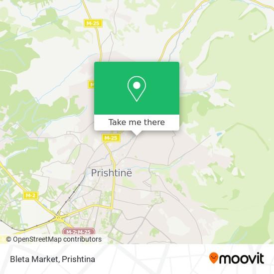 Bleta Market map