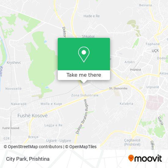 City Park map