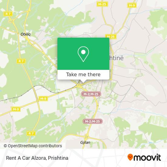 Rent A Car Alzora map