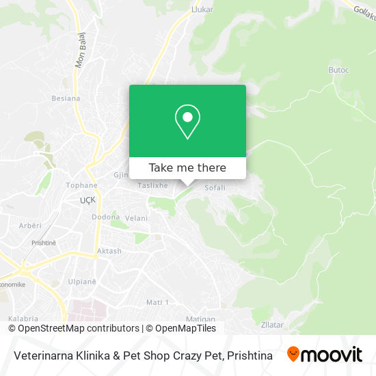 Veterinarna Klinika & Pet Shop Crazy Pet map