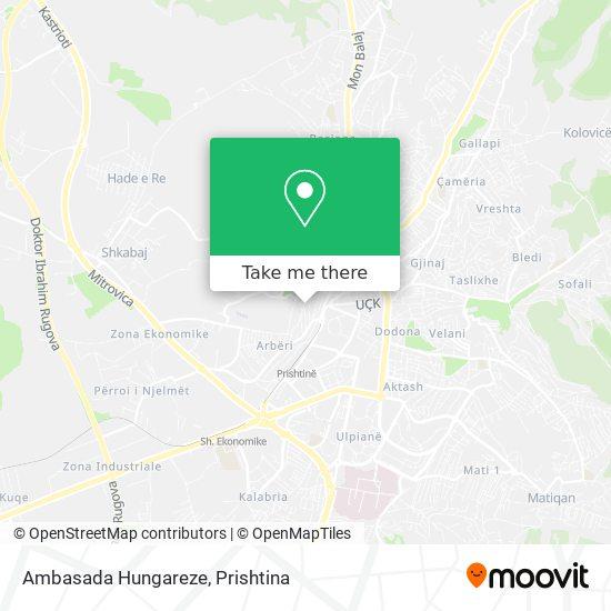 Ambasada Hungareze map