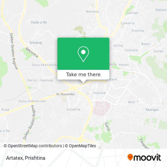 Artatex map