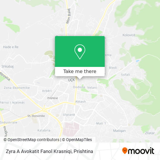 Zyra A Avokatit Fanol Krasniqi map