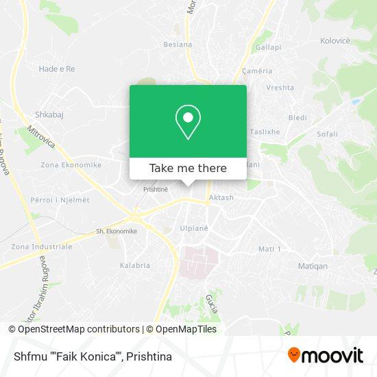"""Shkolla Fillore """"""""Faik Konica"""""""" map"""
