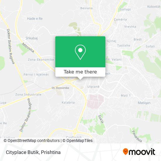 Cityplace Butik map