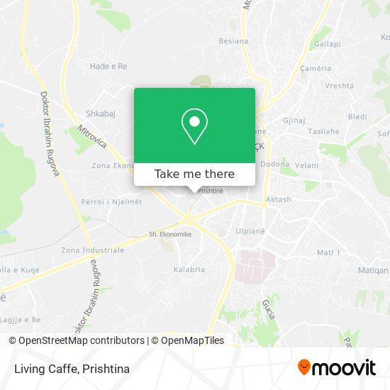 Living Caffe map
