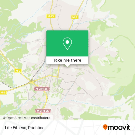 Life Fitness map