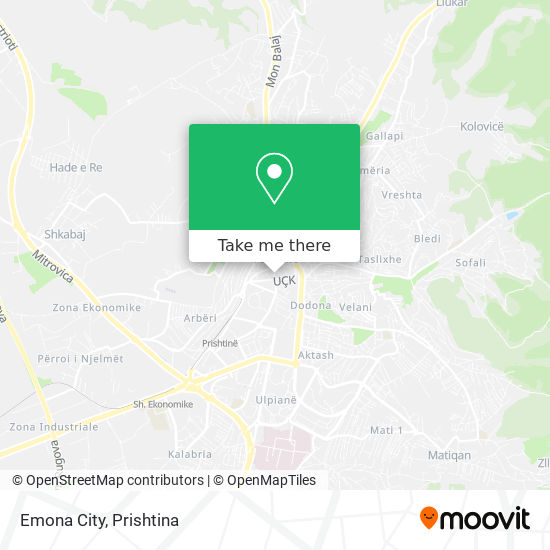 Emona City map