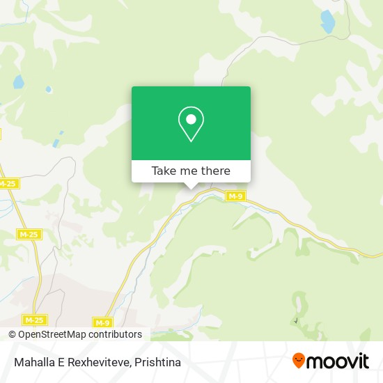 Mahalla E Rexheviteve map