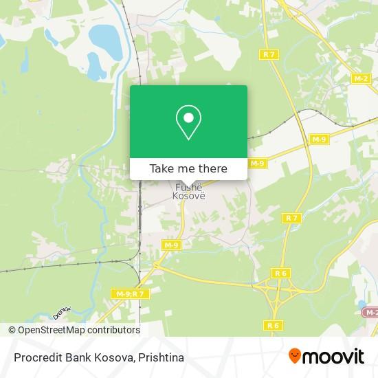 Procredit Bank Kosova map