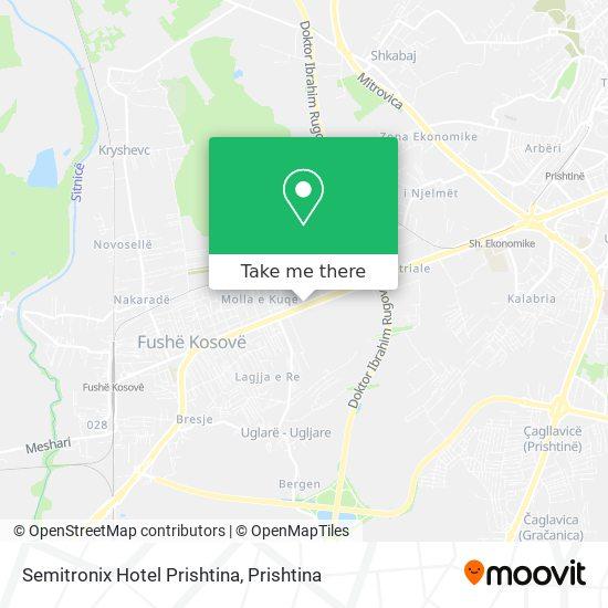 Semitronix Hotel Prishtina map