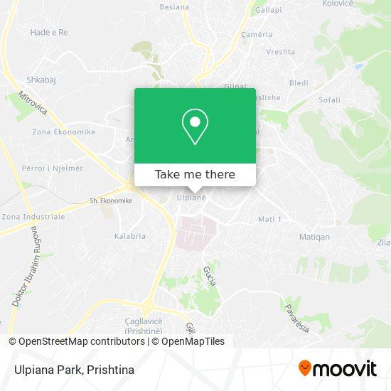 Ulpiana Park map