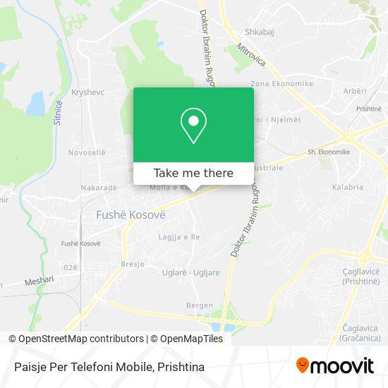 Paisje Per Telefoni Mobile map