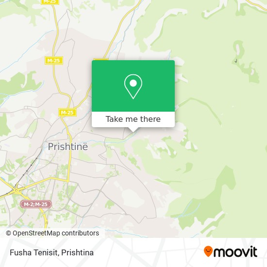 Fusha Tenisit map