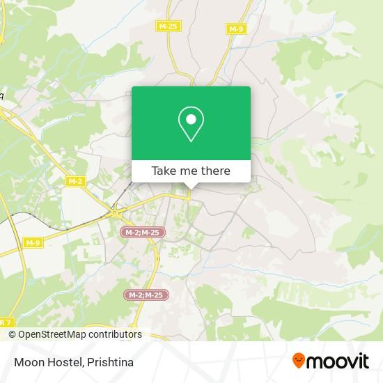 Moon Hostel map