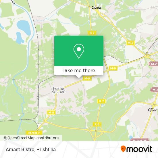 Amant Bistro map