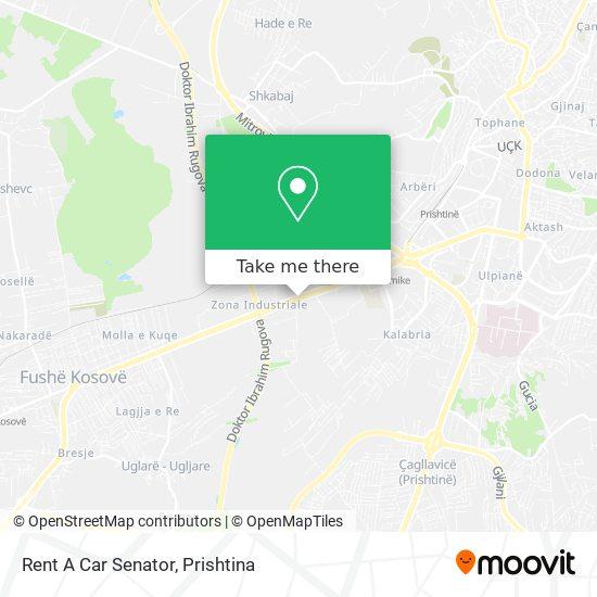 Rent A Car Senator map