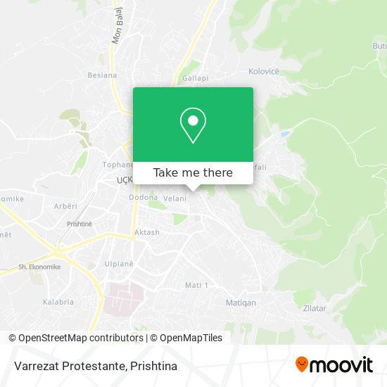 Varrezat Protestante map
