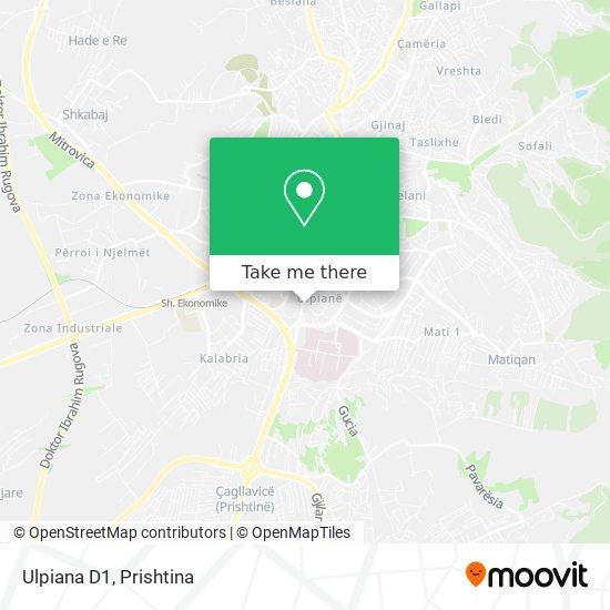 Ulpiana D1 map
