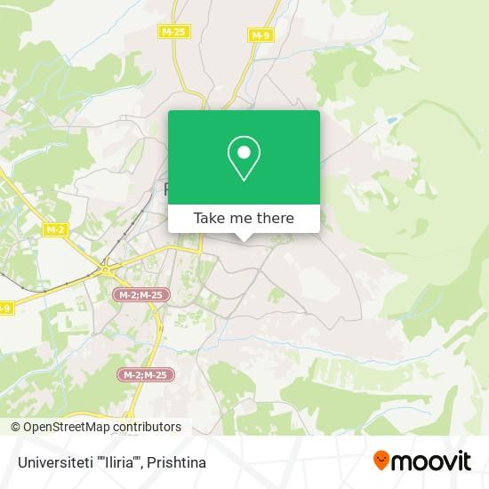 """Universiteti """"""""Iliria"""""""" map"""