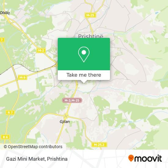 Gazi Mini Market map