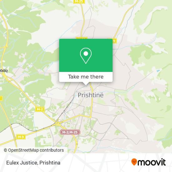 Eulex Justice map