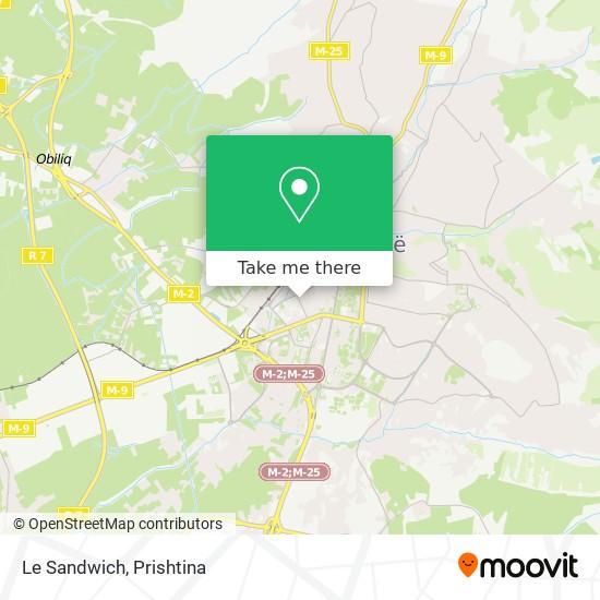 Le Sandwich map