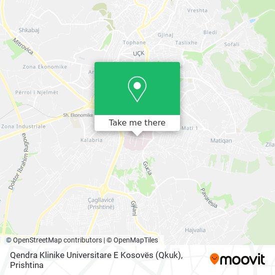 Qendra Klinike Universitare E Kosovës (Qkuk) map