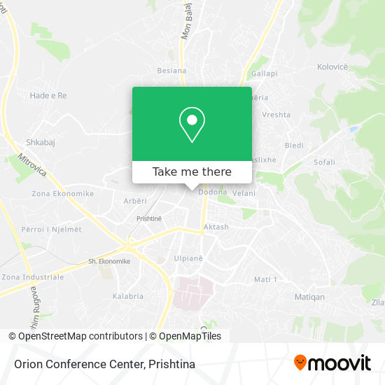 Orion Conference Center map