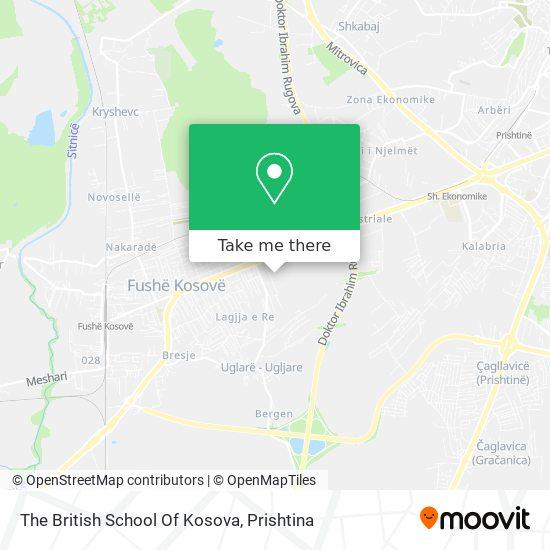The British School Of Kosova map