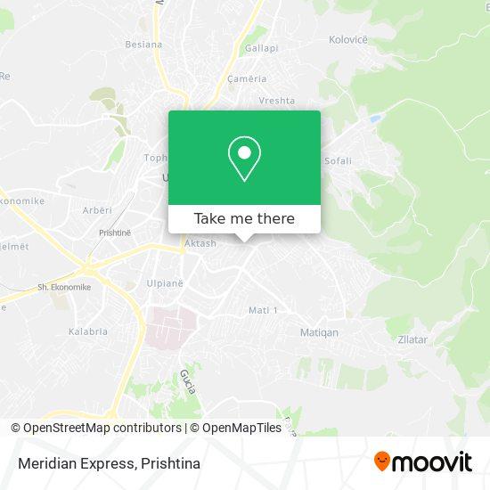 Meridian Express map