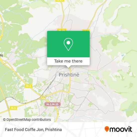 Fast Food Coffe Jon map