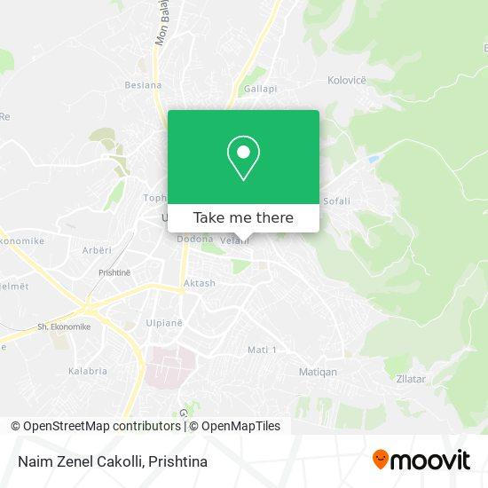 Naim Zenel Cakolli map