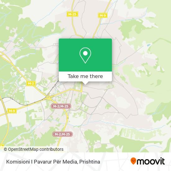 Komisioni I Pavarur Për Media map