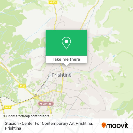 Stacion - Center For Contemporary Art Prishtina map