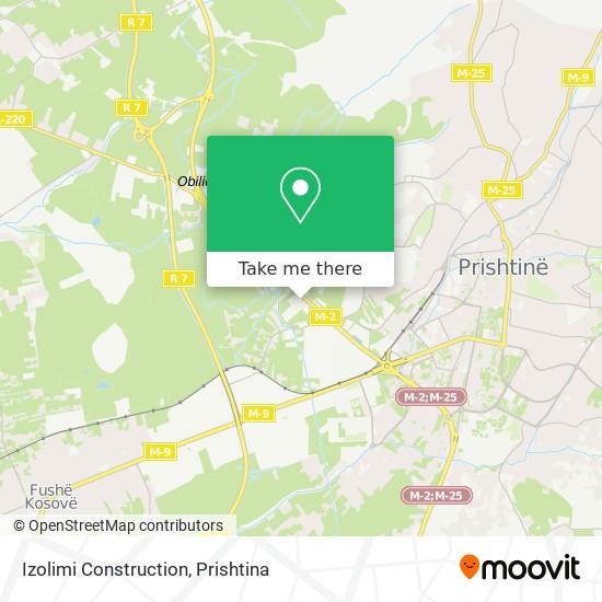 Izolimi Construction map