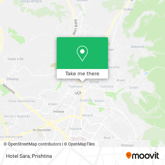 Hotel Sara map