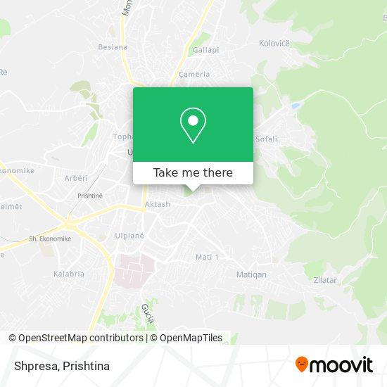 Shpresa map