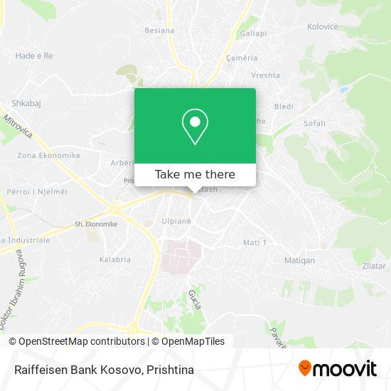 Raiffeisen Bank Kosovo map