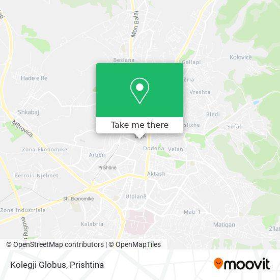 Kolegji Globus map