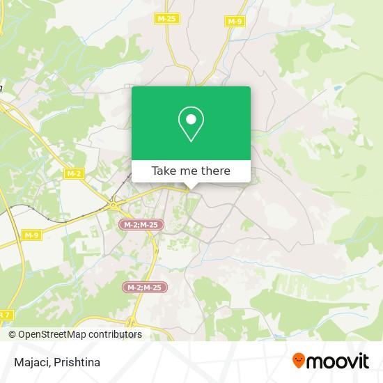 Majaci map
