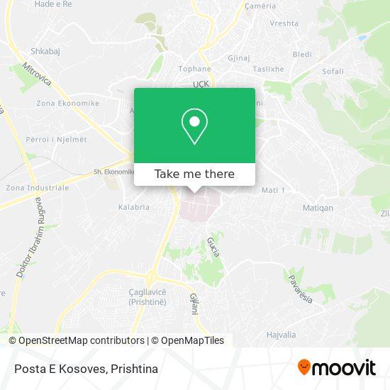 Posta E Kosoves map