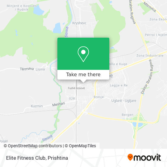 Elite Fitness Club map
